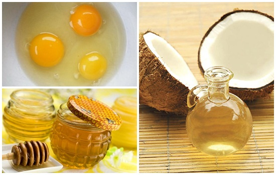 Mặt nạ trị nám da bằng dầu dừa với trứng, mật ong
