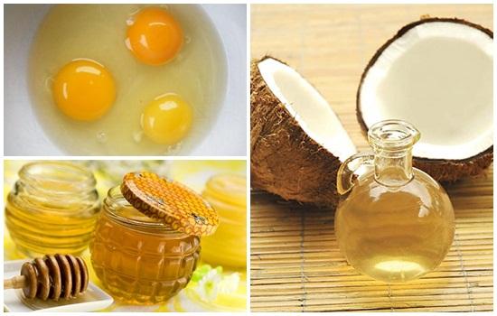 Image result for dưỡng da cùng dầu dừa và TRỨNG